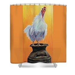 My Crazy Chicken Shower Curtain