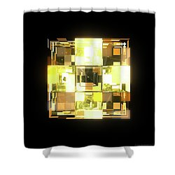 My Cubed Mind - Frame 001 Shower Curtain