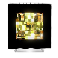 My Cubed Mind - Frame 019 Shower Curtain