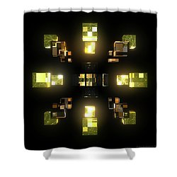 My Cubed Mind - Frame 100 Shower Curtain