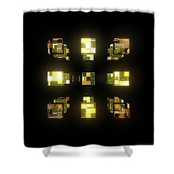 My Cubed Mind - Frame 141 Shower Curtain