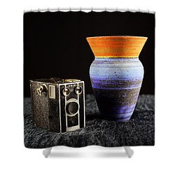 Shower Curtain featuring the photograph My Dad's Camera by Jeremy Lavender Photography