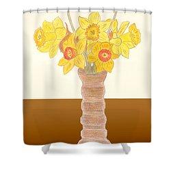 My Daffodils Shower Curtain