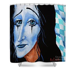 Shower Curtain featuring the painting My Dearest Friend Pierrot by Igor Postash