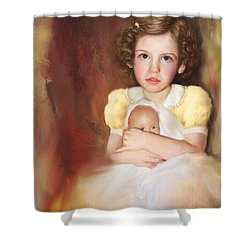 Shower Curtain featuring the photograph My Dolly by Bonnie Willis