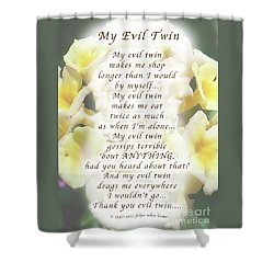 My Evil Twin Greeting Card And Poster Shower Curtain by Felipe Adan Lerma