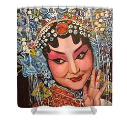 My Fair Lady Shower Curtain by Belinda Low