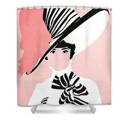 My Fair Lady Shower Curtain by Fraulein Fisher