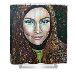 My Fair Lady II - Come Home - Geylang Si Paku Geylang Shower Curtain by Belinda Low
