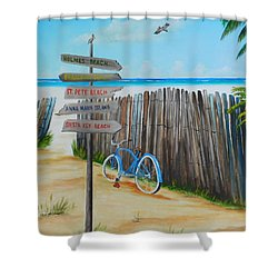 My Favorite Beaches Shower Curtain