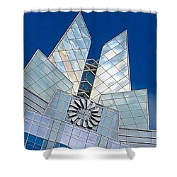 My Favorite #building In #myhometown Shower Curtain by Austin Tuxedo Cat
