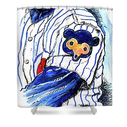 My Favorite Chicago Cub Shower Curtain