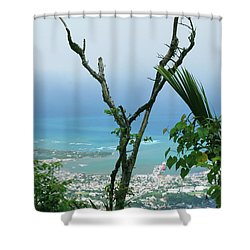 My Favorite Wishbone Between A Mountain And The Beach Shower Curtain