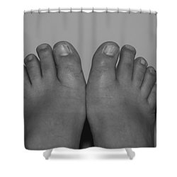 Shower Curtain featuring the photograph My Feet By Hans by Rob Hans