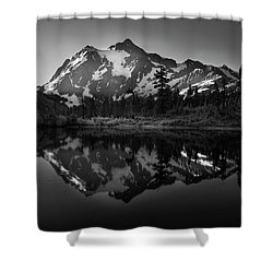 My First Morning Shower Curtain by Jon Glaser