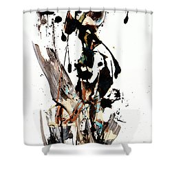 My Form Of Jazz Series 10062.102909 Shower Curtain by Kris Haas
