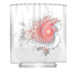 Shower Curtain featuring the digital art My Fractal Heart by Fran Riley