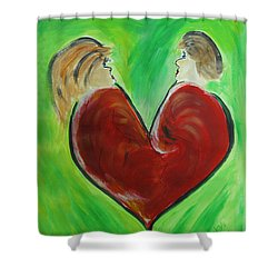 My Funny Valentine Shower Curtain by Donna Blackhall