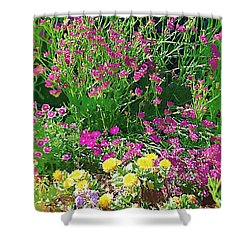 Shower Curtain featuring the photograph My Garden   by Donna Bentley