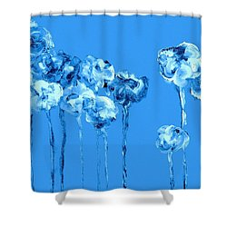 My Garden - Blue Shower Curtain