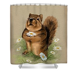 Shower Curtain featuring the painting My Gift For You by Veronica Minozzi
