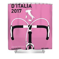 My Giro Ditalia Minimal Poster 2017 Shower Curtain by Chungkong Art