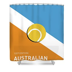 My Grand Slam 01 Australian Open 2017 Minimal Poster Shower Curtain