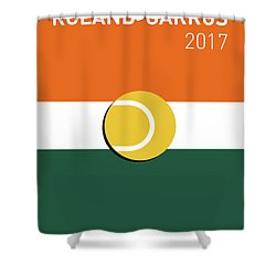 My Grand Slam 02 Rolandgarros 2017 Minimal Poster Shower Curtain