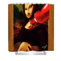 My Heart Belongs To Davinci Shower Curtain