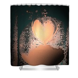 My Heart Is On The Moon Shower Curtain by Lenore Senior