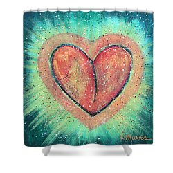 Shower Curtain featuring the painting My Heart Loves You by Laurie Maves ART