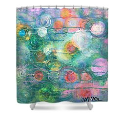 Shower Curtain featuring the painting My Heart Will Find You by Laurie Maves ART