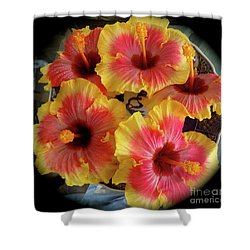 My Hibiscus Garden Shower Curtain
