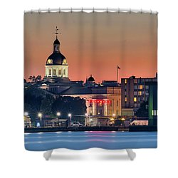 My Home Town At Night... Shower Curtain