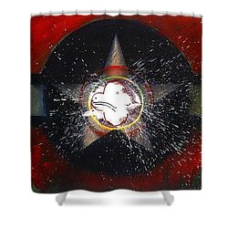Shower Curtain featuring the painting My Indian Red by Charles Stuart