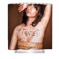 My Invisible Tattoos - Self Portrait Shower Curtain by Jaeda DeWalt