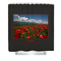 My Joy Spreads To Everyone Else Shower Curtain by Donna Corless