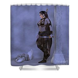 My Country  My Sword Shower Curtain