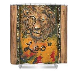 My Leo  Shower Curtain
