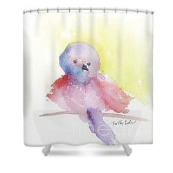 Shower Curtain featuring the painting My Little One by Trilby Cole