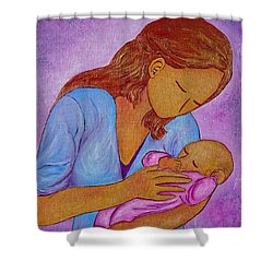 My Little Sweetness Shower Curtain by Gioia Albano