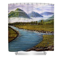 My Morning Walk With God Shower Curtain
