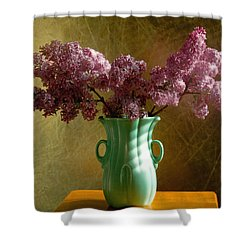 My Mother's Lilacs Shower Curtain by Wendy Blomseth
