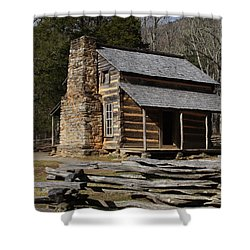 Shower Curtain featuring the photograph My Mountain Home by B Wayne Mullins