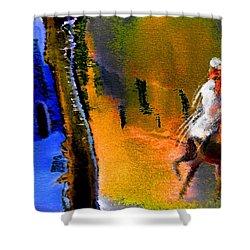My Oasis Shower Curtain by Miki De Goodaboom