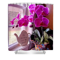 My Orchids Shower Curtain