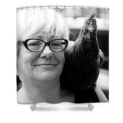 Mary's Chicken Shower Curtain