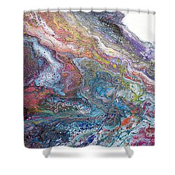 My Pet Purple Dragon Peeking Shower Curtain