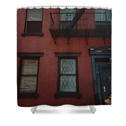 My Pops First Home In The United States Shower Curtain by Rob Hans