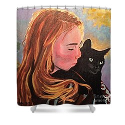 My Purring Friend Whiskers Shower Curtain